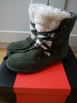 Guess Botas de invierno caqui-blanco puro