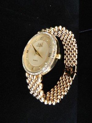 Analoog horloge goud Edelstaal