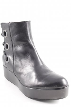 G.K.M. Ankle Boots schwarz Vintage-Look