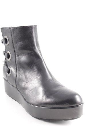 G.K.M. Ankle Boots black vintage look