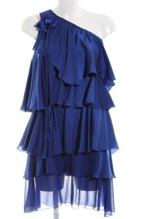 G-Sel Volantkleid blau extravaganter Stil