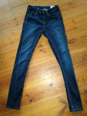 G-Star 3301 Röhrenjeans Low Super Skinny Jeans Gr. 28 dunkelblau TOP