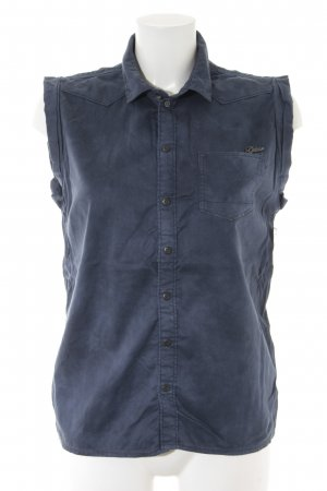 G-Star Mouwloze blouse blauw casual uitstraling