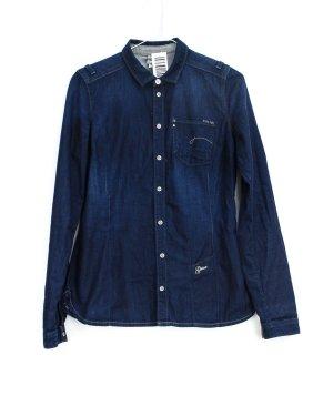 G-Star Chemise en jean bleu foncé