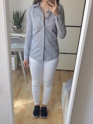 G-STAR Bluse Hemd Hemdbluse gestreift schwarz weiß Gr. S