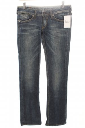 G-Star Boot Cut Jeans blau-wollweiß meliert Casual-Look