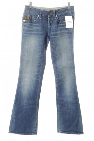 G-Star Boot Cut Jeans dunkelblau Bleached-Optik