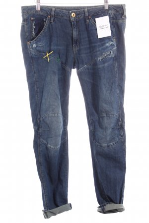 G-Star Boyfriendjeans dunkelblau Destroy-Optik