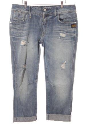 G-Star Jeans boyfriend bleu acier style déchiré