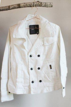 G-STAR Caban Jacke Blouson Jeans weiß white