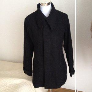 G-STAR Damen Mantel Coat Wollmantel Wintermantel Gr. M Schwarz 65 % Wolle WMN