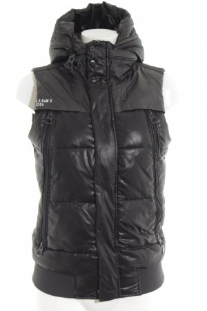 G-Star Down Vest black quilting pattern casual look