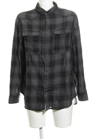 G-Star Flannel Shirt black-dark grey check pattern casual look