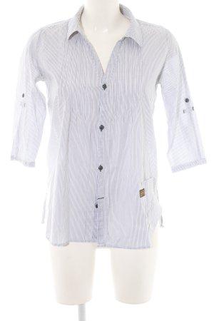 G-Star Hemd-Bluse weiß-hellgrau Streifenmuster Business-Look