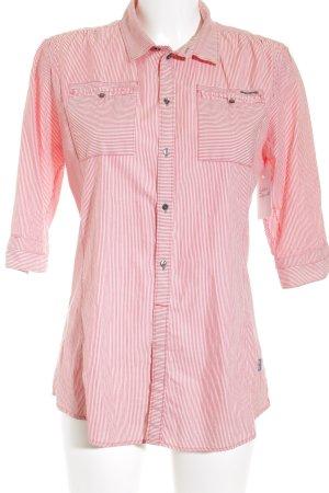 G-Star Hemd-Bluse weiß-rot Streifenmuster Business-Look