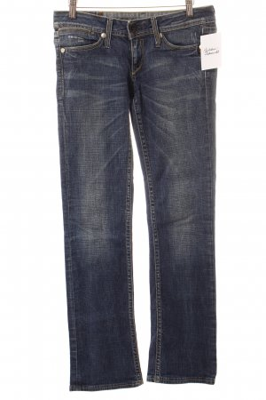 G-Star Hüftjeans dunkelblau-wollweiß Washed-Optik