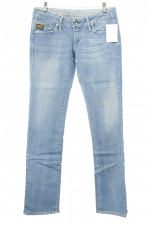 G-Star Low Rise jeans staalblauw Webpatroon casual uitstraling
