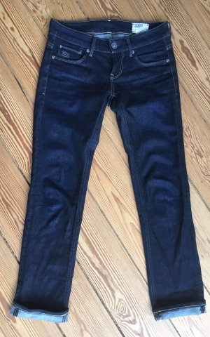 Gstar Low Rise Jeans dark blue cotton