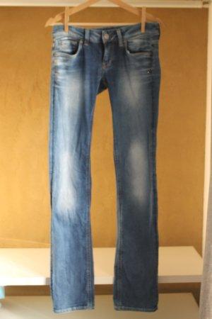 Gstar Low Rise jeans staalblauw-lichtblauw Katoen