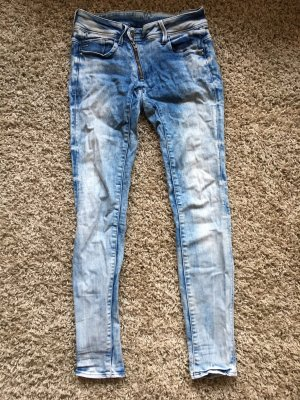 G-Star Skinny jeans wit-azuur