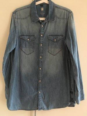 G-Star Jeans blouse azuur-korenblauw