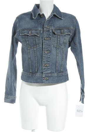 G-Star Jeansjacke blau-wollweiß Washed-Optik
