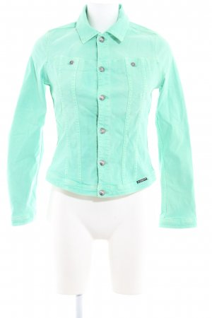 G-Star Veste en jean vert menthe style décontracté