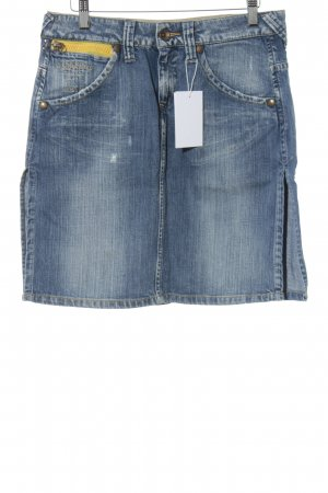 G-Star Jeansrock graublau Destroy-Optik