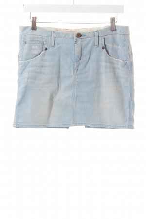 G-Star Jeansrock hellblau-wollweiß Washed-Optik