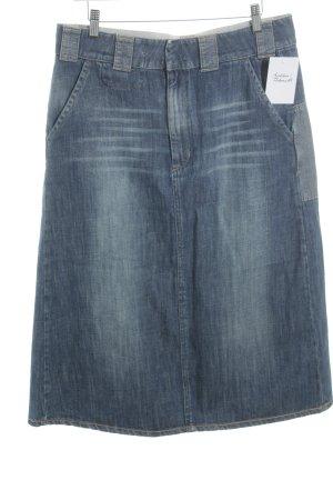G-Star Jeansrock stahlblau Jeans-Optik