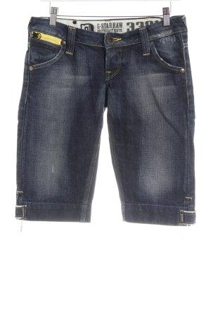 G-Star Pantalón corto de tela vaquera azul oscuro moteado look casual