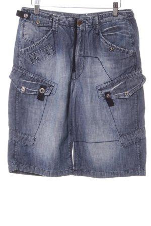 G-Star Jeansshorts dunkelblau Street-Fashion-Look
