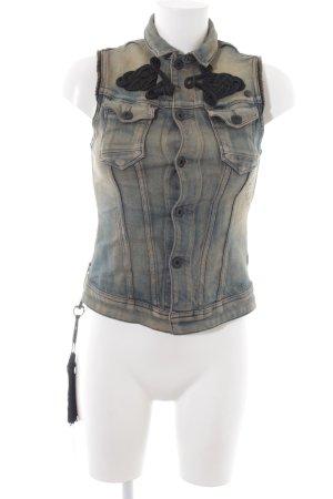G-Star Denim Vest blue-primrose jeans look