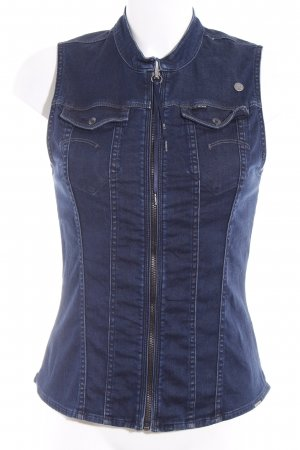 G-Star Denim Vest dark blue casual look