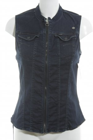 G-Star Denim Vest dark blue jeans look