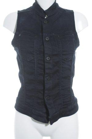 G-Star Jeansweste dunkelblau-schwarz Casual-Look