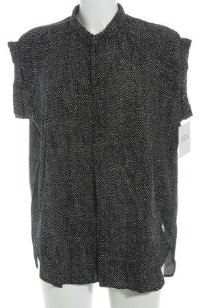 G-Star Kurzarm-Bluse schwarz-weiß Punktemuster Casual-Look