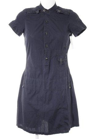 G-Star Robe à manches courtes bleu foncé rayure fine style décontracté