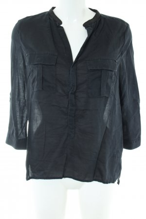 G-Star Langarm-Bluse khaki-schwarz Casual-Look