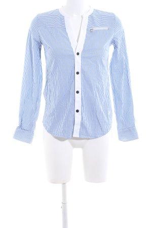 G-Star Langarm-Bluse blau-weiß Streifenmuster Business-Look