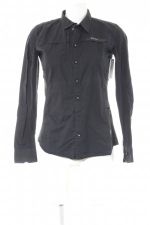 G-Star Langarm-Bluse schwarz Business-Look