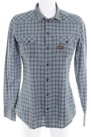 G-Star Shirt met lange mouwen geruite print casual uitstraling