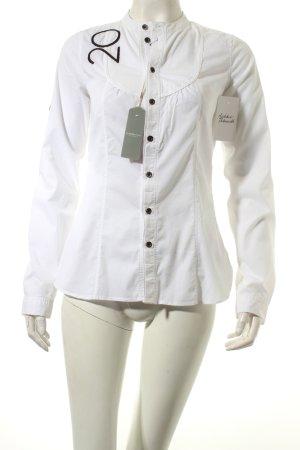 G-Star Langarmhemd weiß Stickereiverzierung