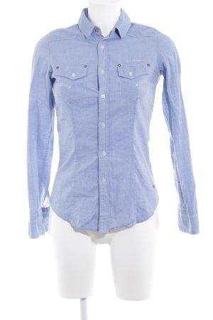G-Star Shirt met lange mouwen wolwit-korenblauw casual uitstraling