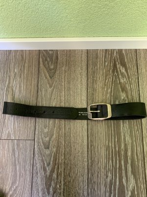 Gstar Leather Belt black-silver-colored