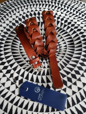 G-Star Raw Braided Belt brown-cognac-coloured leather