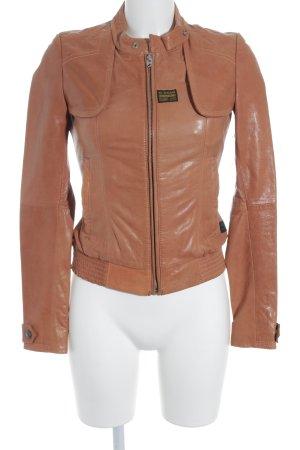 G-Star Lederjacke apricot Biker-Look