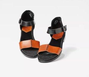 G-Star Sandalias cómodas negro-naranja oscuro Cuero