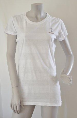 G-Star Long T-Shirt SOUND R T WMN weiß Blockstreifen Gr. L