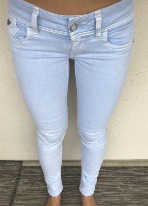 G-Star Skinny jeans azuur Katoen